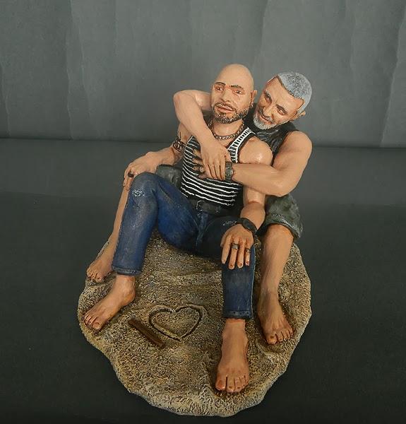 statuine personalizzate volti idee regalo artigianali fidanzato orme magiche