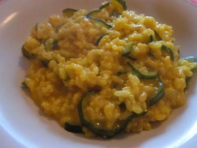 risotto integrale zafferano e zucchine