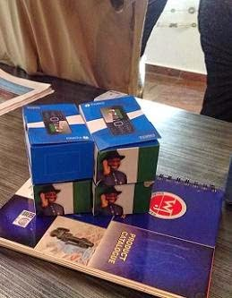More photos of Goodluck Jonathan's Branded Handsets