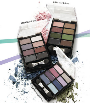 Oriflame Pure Colour Eye Shadow Palette in Sand & Green Review,swatches