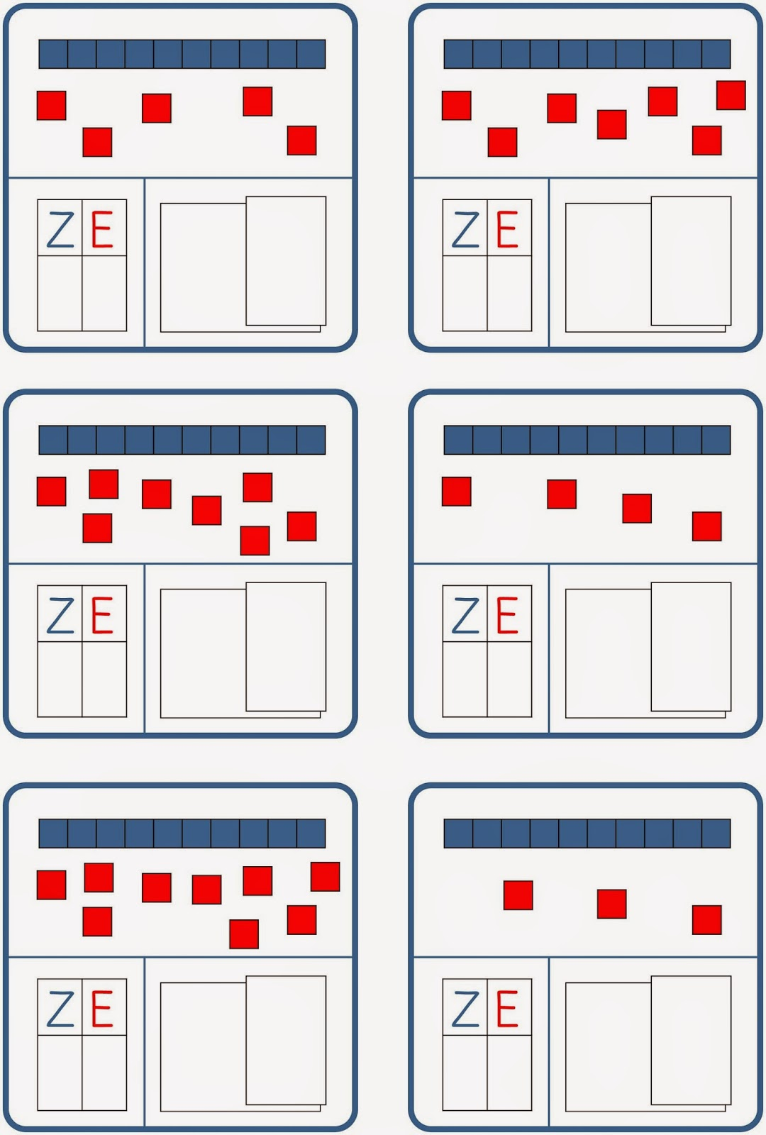 Fine Zehner Und Einer Tabelle Der Ersten Klasse Crest - Kindergarten ...