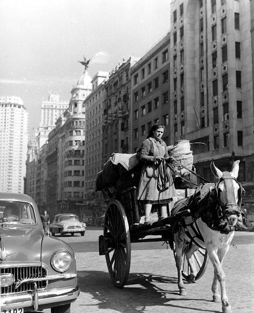 Carrera por la Gran Vía, Madrid 1960