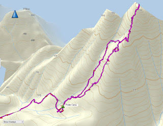 Mount Pinder Map and GPS Route