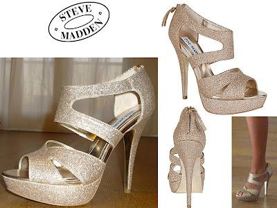 chaussures plateformes dorés Steve Madden