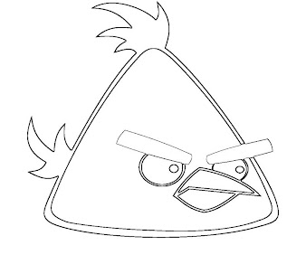 #6 Angry Birds Coloring Page