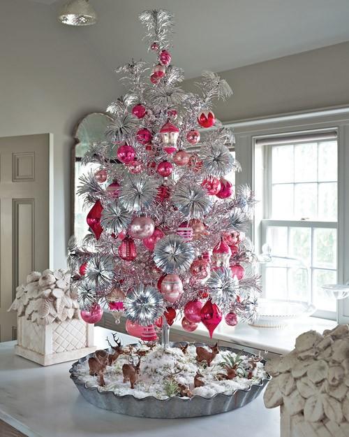 ideias para decorar arvore de natal branca : ideias para decorar arvore de natal branca:Decoração de Árvore de Natal Branca e Prata – Design Innova