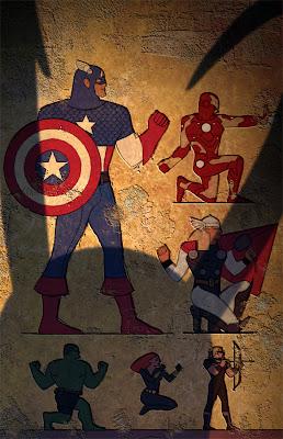 Egypt Avengers Captain America Iron Man Thor Hulk