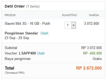 Harga Xiaomi Mi4 Hari Ini Cuma Rp 2,6 Juta di #LazadaID, Mau?