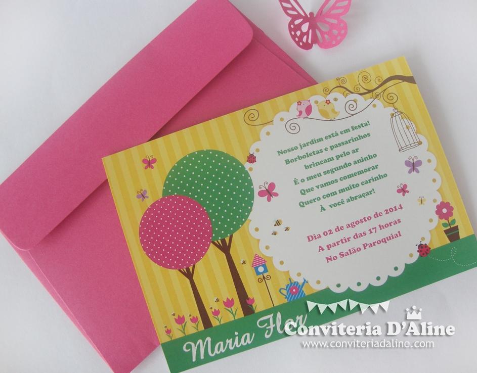convite infantil jardim