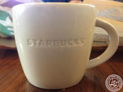 Image of Espresso cup at Starbucks coffee in Montreal, Canada
