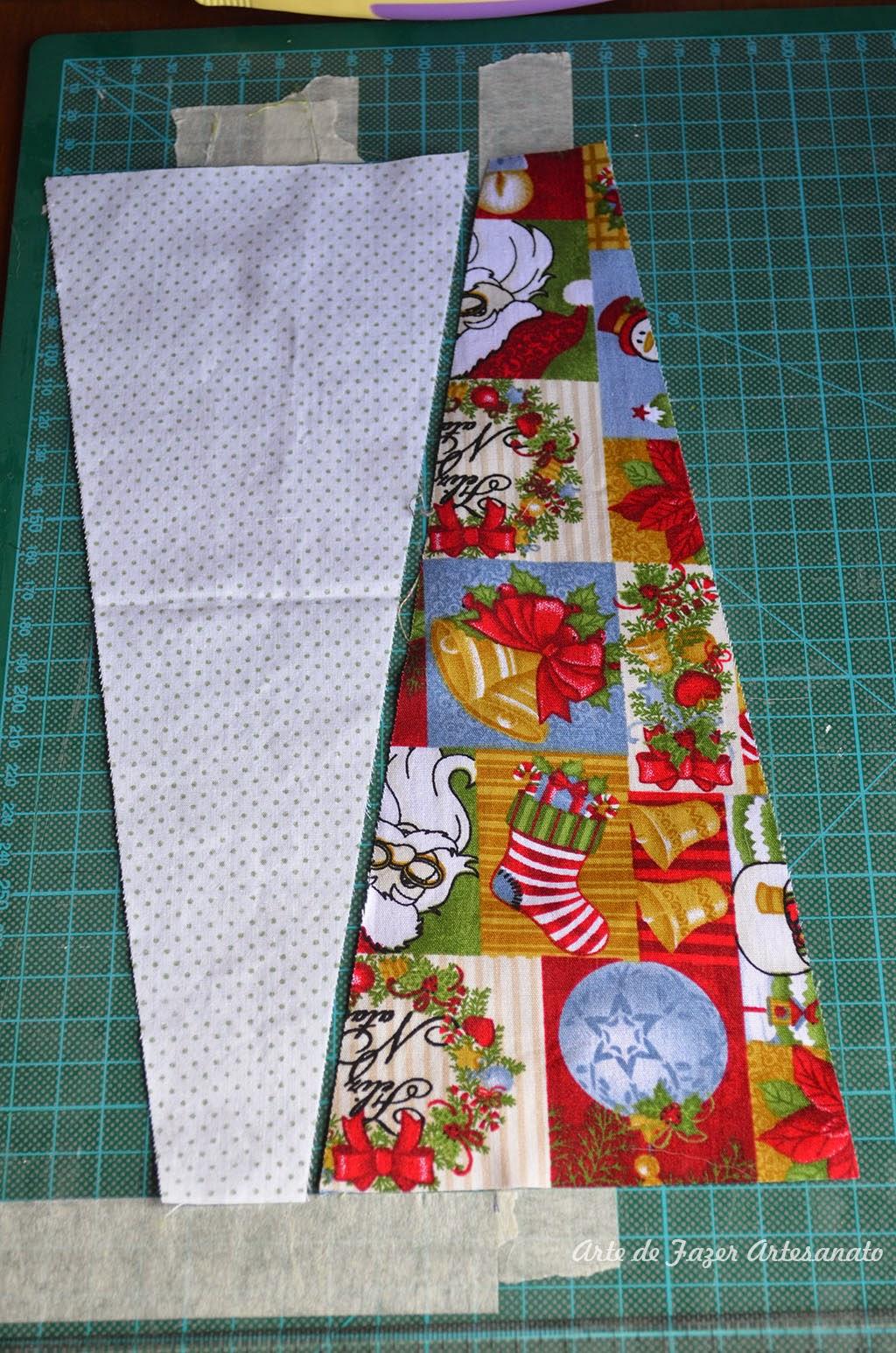 Saia para árvore de natal em patchwork | aproveitamento de tecido