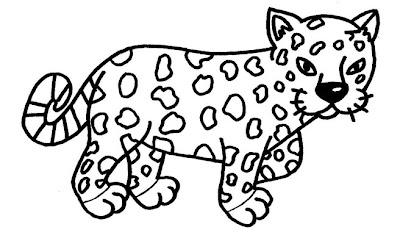 Desenho para colorir de onça pintada. Animais selvagens para colorir