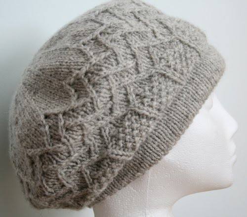 Free Knitting Patterns For Berets : Grace Lace Beret Free Knitting Pattern LONG HAIRSTYLES