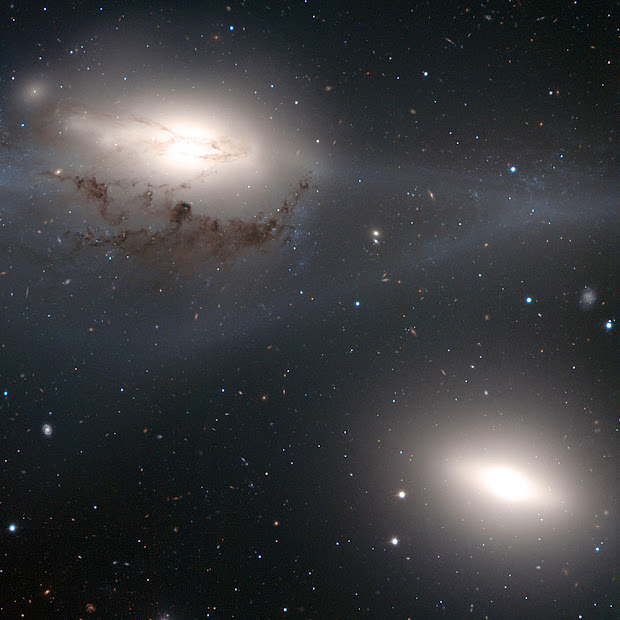 VLT portrait of the pair of galaxies NGC 4438 and NGC 4435