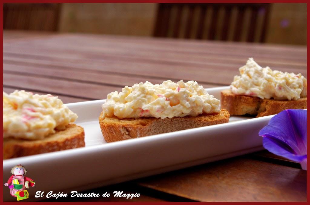 El caj n desastre de maggie canap de cangrejo y huevo for Canape de cangrejo