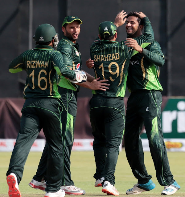 Pakistan win 1st T20 against Zimbabwe at Harare.