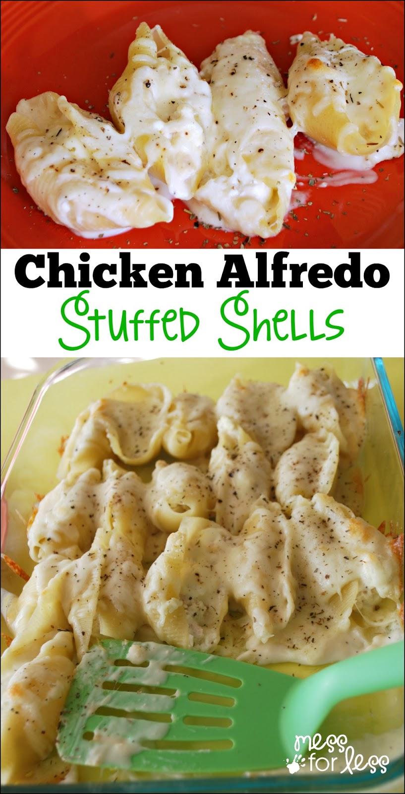 Alfredo Stuffed Shells - Yummy twist on traditional stuffed shells ...