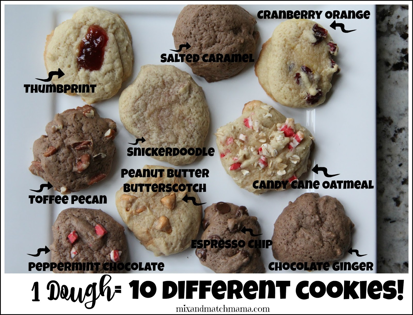 Basic cookie recipe with variations