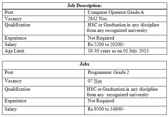 Capital Jobs UP Police Recruitment 2013 For 2849 Computer – Computer Programmer Job Description