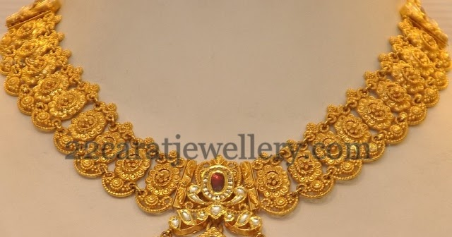 2013 latest gold necklace jewellery designs