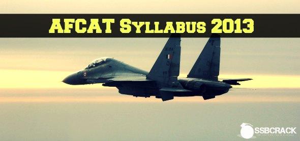AFCAT Syllabus 2013