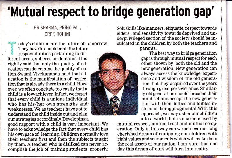 article on generation gap