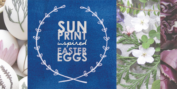 Sun Print Inspired Easter Eggs