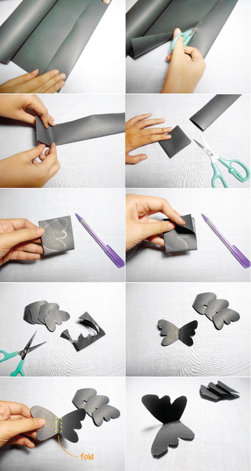 How To Make Wall Design At Home : Diy paper flowers and butterflies wall art room