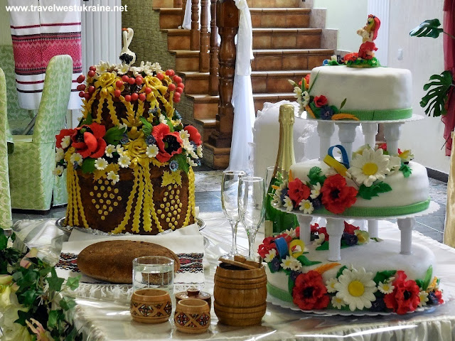 Korovay Ceremonial Bread and Wedding Cake in Ukrainian Style, Ternopil, West Ukraine