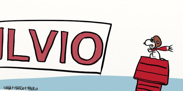 Gava gavavenezia satira vignette illustrazione caricatura fumetto ridere gavagnin marco illustratore disegno meno italia rosso verde bianco barone snoopy forza italia berlusconi aereo spiaggia