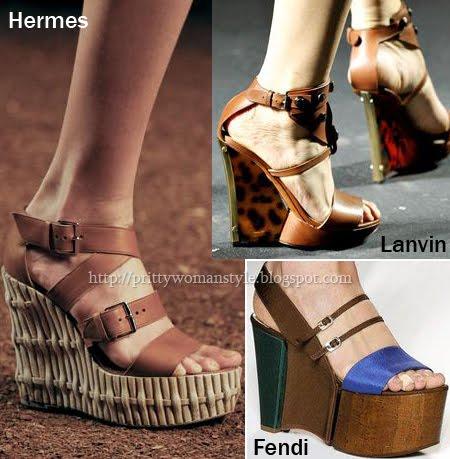 сандали на платформа пролет-лято 2011