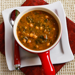 Chickpea (Garbanzo Bean) Soup with Spinach, Tomatoes, and ...