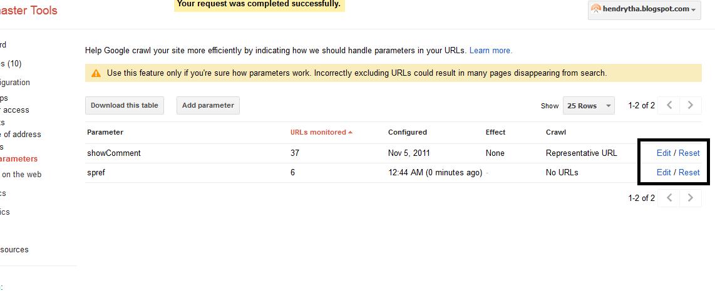 Parameter URL