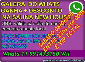 MEGA FESTA DE NIVER DO GRUPO PEGADAS DE MACHOS SP NA SAUNA NEW HOUSE tem VIP pra nossa galera