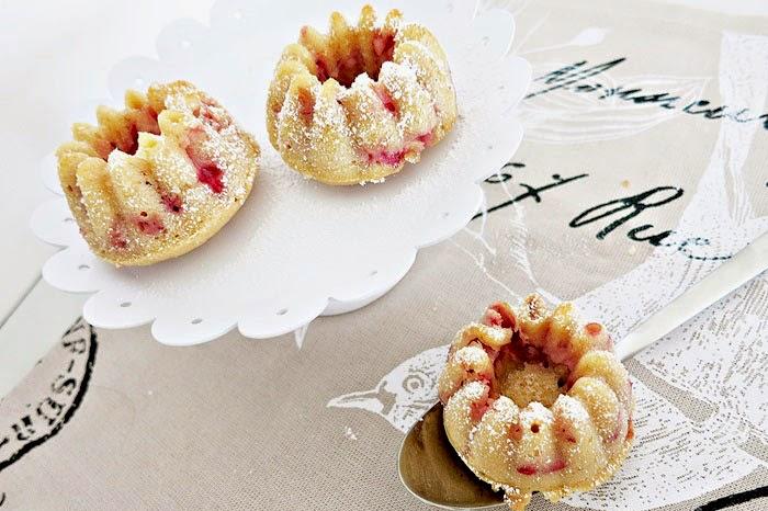 Buttermilch Erdbeer Mini-Gugl