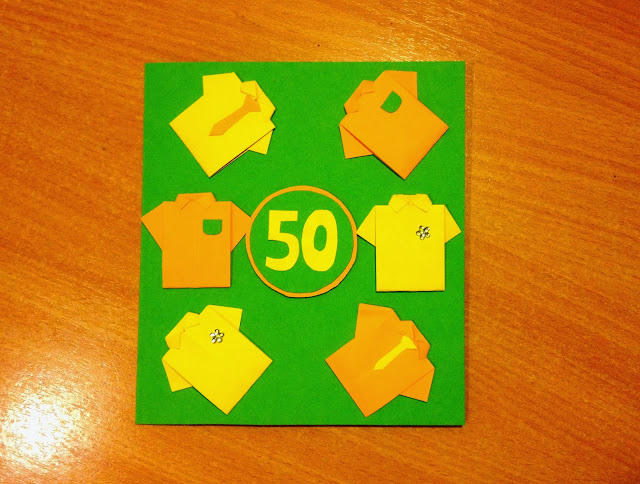 50 year Birthday Card  - Kartka na pięćdziesiątkę