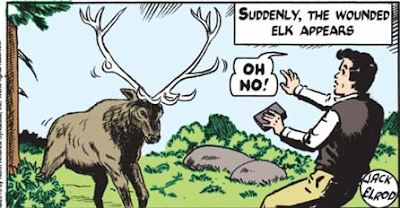 the wounded elk charges Johnny Walker