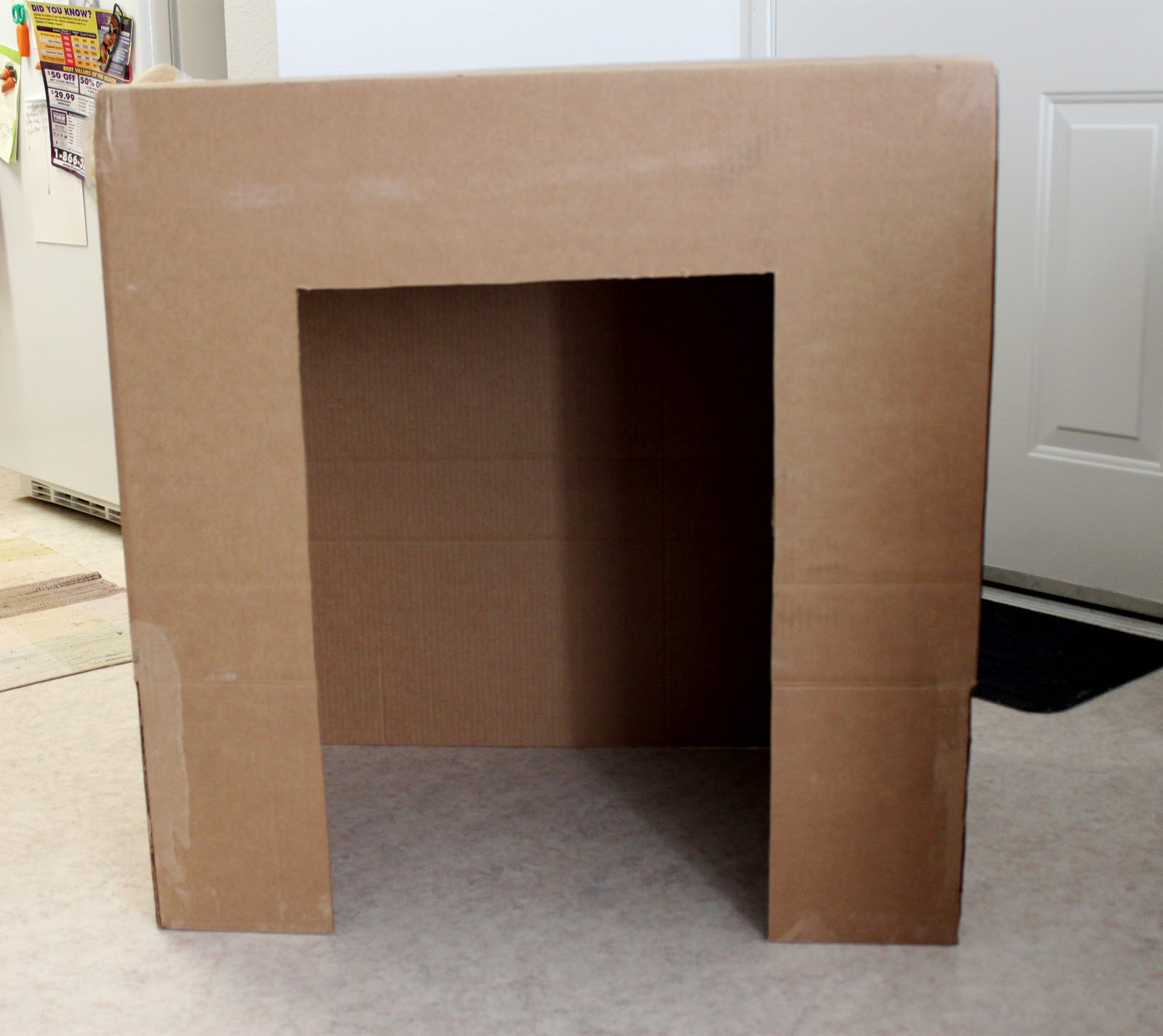 Cation Designs DIY Cardboard Faux Fireplace