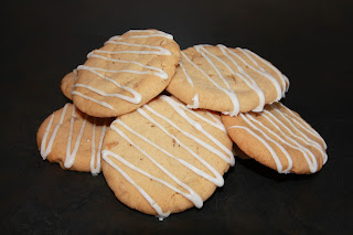 Stem ginger cookies with lemon icing