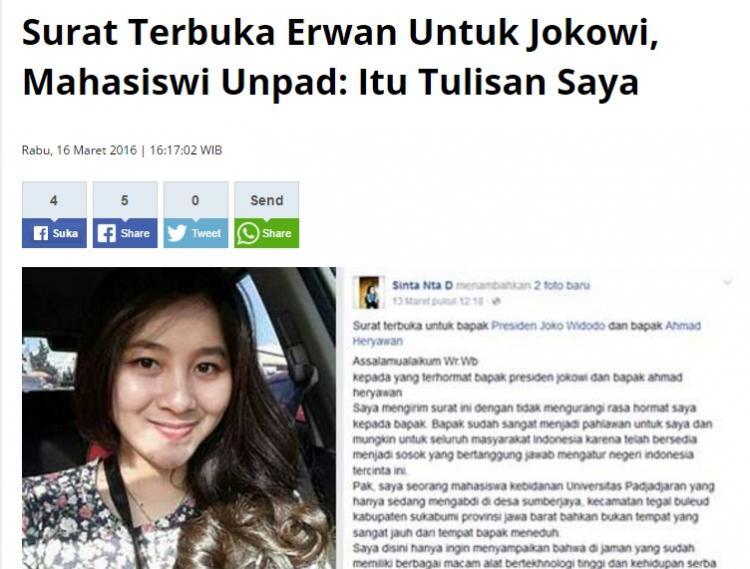Surat Terbuka Erwan Untuk Jokowi - Metro Jambi