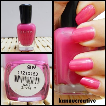 Today I M Going To Review Zoya Nail Enamel In The Shade Called Kali Which Is A Bright Pink