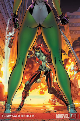 Marvel's All-new Savage She-Hulk #2, Released: May 13th 2009, Penciller: J. Scott Campbell, Inker: J. Scott Campbell, Colorist: Studio F - Edgar Delgado