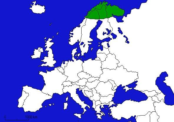 Laponie: Situation géographique