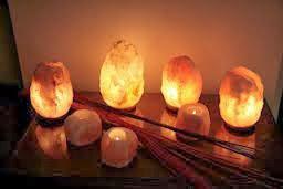 Lámparas de cristal de sal del Himalaya