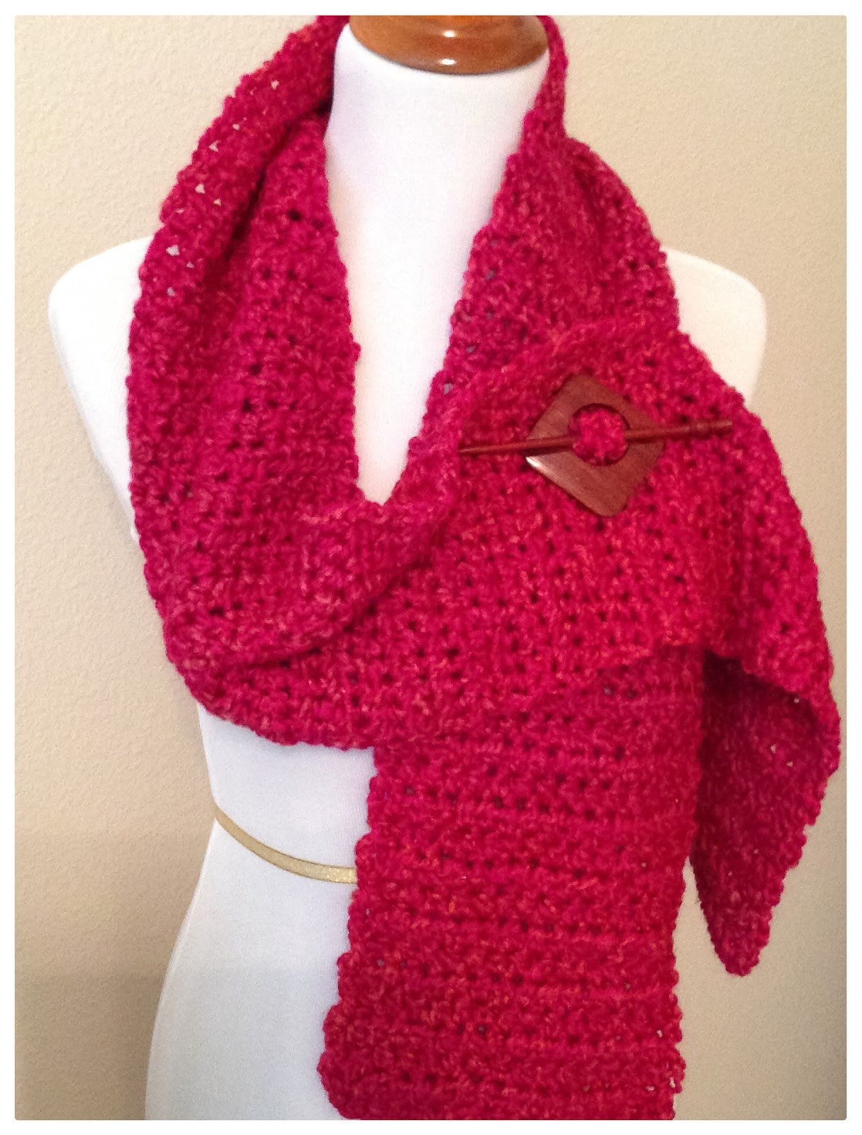 Crochet Pattern For Scarf With Homespun Yarn : Knotted Threads and Yarn: Easy One Skein Crochet Homespun ...