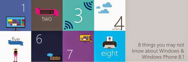 8 Things About Windows 8.1 & Windows Phone 8.1, Windows 8.1, Windows Phone 8.1, OneDrive, Bing Apps, Word Flow, Quiet Hours, Universal App, 3D Builder App, hotspot, internet explorer