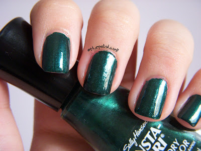 Sally Hansen Insta-Dri Pumpin' Jade swatches
