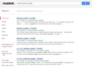 This capture shows what happens if you search Google for 'tumblr electric . (tumblr electric guitar)