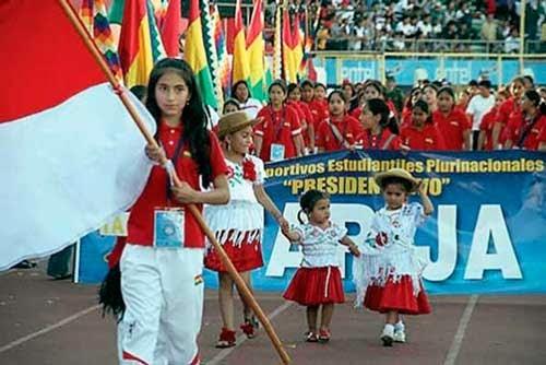 Se descubre el telón de los Juegos Plurinacionales en Tarija