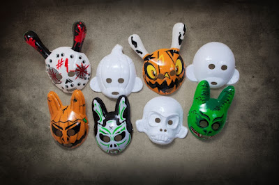 "Kidrobot's Do It Yourself Munny Halloween Masks, Labbit Halloween Masks or ""The 13"" Dunny Series Masks by Brandt Peters"